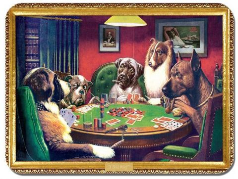 A Fine Bluff  Mouse Mat. Dogs Playing Poker Cassius Marcell Coolidge Mouse Pad
